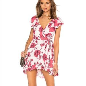 Free People ob778956 floral wrap dress